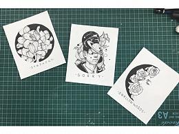 纹身图案的插画设计