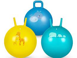 亚马逊 瑜伽球 跳跳球 儿童玩具