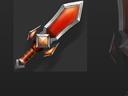 手绘练习 Q版武器 剑