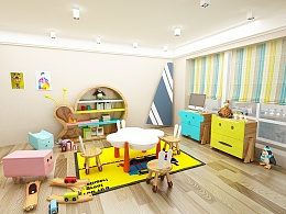 儿童活动区场景及家具设计
