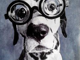 钢笔斑点狗