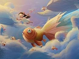 《我有一双美丽的眼睛》系列——云中金鱼姬