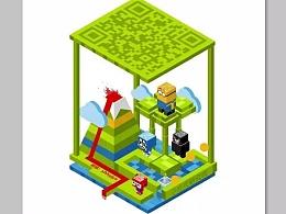 动态艺术二维码 第四弹:立体角色动画二维码(二维码就该这么玩)