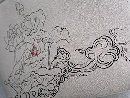 叁公馆·手绘棉麻包·莲·