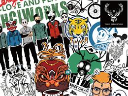 2014 黑鹿BLACK DEER – TONYC DESIGN 原创插画图形集合