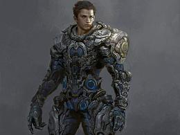 钟风华最新课堂范画《未来战士》