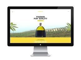UI设计 网站设计 网页设计 官网设计 食品网站 橄榄油官网