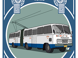 大连老公交车之-无轨电车