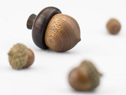 《恒家之造》 创意纯手工木质戒指盒 橡果戒指盒
