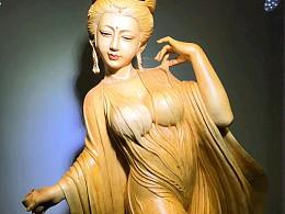 小伙雕刻美女贵妃成品出来也太惊艳了