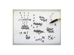 英文手写字体练习~外壳的2017