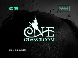 壹教室舞蹈培训教育机构logo设计