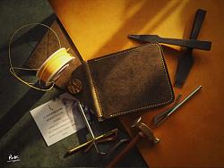 皮侠客pxk-撞色弹簧夹钱包