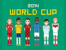 2014巴西世界杯像素球星