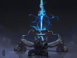 【原创 多图】《为战而生》的能量核心原画 0 0