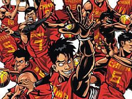 中国男篮插画设计
