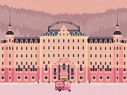 《布达佩斯大饭店》插画设计
