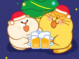 """开心猫圣诞""""三件套"""""""