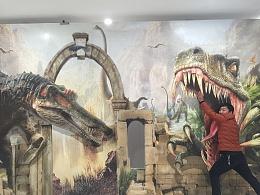 北京3D立体画3D画之恐龙作品展示