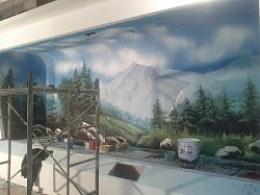 临沂手绘(彩绘) 黄岛开发区博物馆壁画