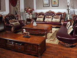 美式高品质奢华咖啡桌家具详情页别墅级画面质感欧美优秀页面设计