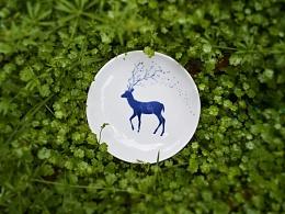 【初于蓝工作室】——釉下青花手绘部分器皿