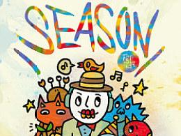 畢業作品《SEASON》系列CD包裝