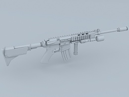 枪械 白模