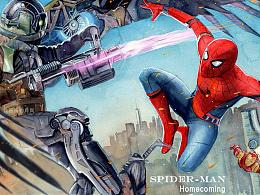 《蜘蛛侠:英雄归来》水彩手绘过程