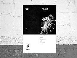 MUSIC 品牌形象设计  酷 表情  舞蹈 音乐LOGO 黑色VI