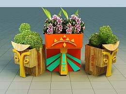 商场陈列-花器,DP点