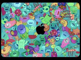 苹果创意皮肤设计之群魔乱舞