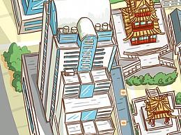 无锡崇安寺手绘地图