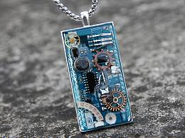 原创设计码农理工IT男女后现代科技融合蒸汽朋克机械创意礼物项链