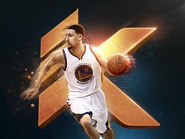 安踏-NBA-克莱·汤普森KT-海报练习
