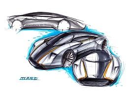 工业产品设计手绘之 阿斯顿马丁超跑 步鄹图~~马赛(Mars)作品