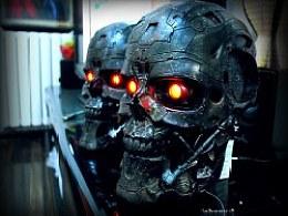 杀戮机器,终结者T600机械头骨1:1实物展示~我的新收藏!
