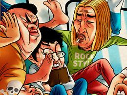 商业插画—《支付宝钱包春节6大劫》