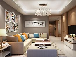 DESIGN-REN  2016年底  小复式  现代 家装方案 效果图