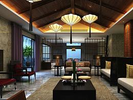 贵阳中铁逸都案例户型装修设计国际东南亚别墅风格别墅图绿城法式图片