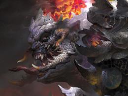 元素动力冯伟课堂范画——怪物半身像设计