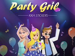 KIKA贴纸——PARTY GIRL