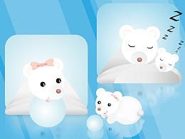 四只住在冰里的熊