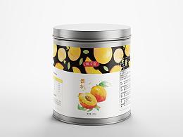 黄桃水果罐头包装设计