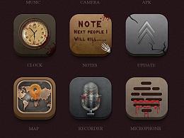 UI 重口味血腥icon图标 GUI  iphone/ipad IOS