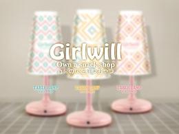 girlwill 杯子 是台灯哦~!+视频介绍