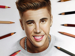 MZ彩铅手绘Justin Bieber