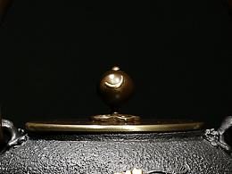 【沐焱堂】 鸟语花香铁壶 铸铁 鎏金无涂层纯铁煮 养生茶壶出口日本