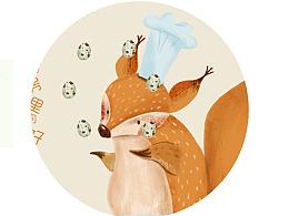 为蛋品设计的商业插画