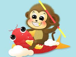 毛绒绒的小猴子